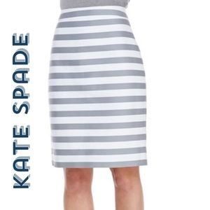 Striped Pencil Skirt by Kate Spade